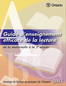 guide enseignement lecture